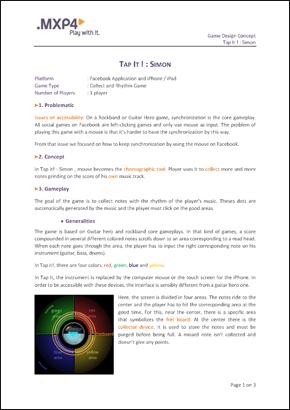 Vincent Villaume Game Design On Pump It - Game concept document